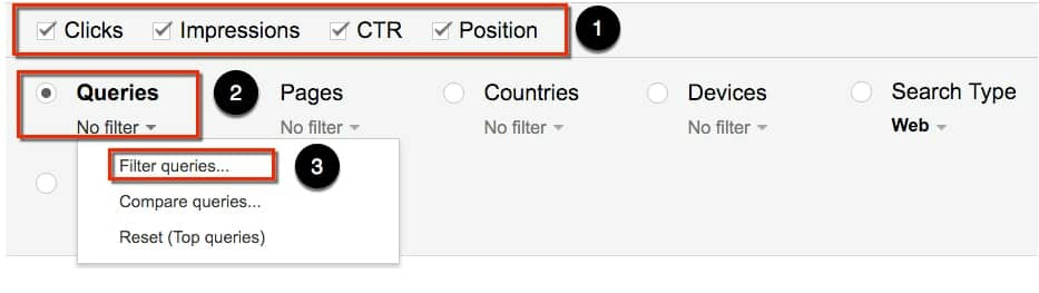 Google Search Console | Filter by Query