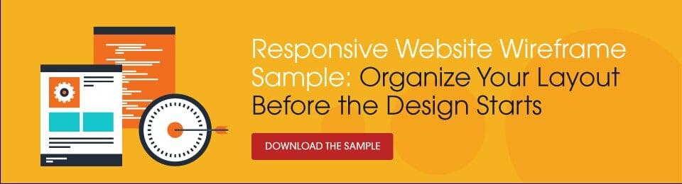 Responsive website layout samples